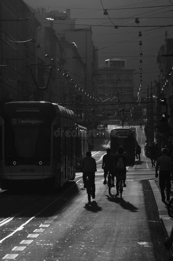 Straßenleben Graz stockfotos
