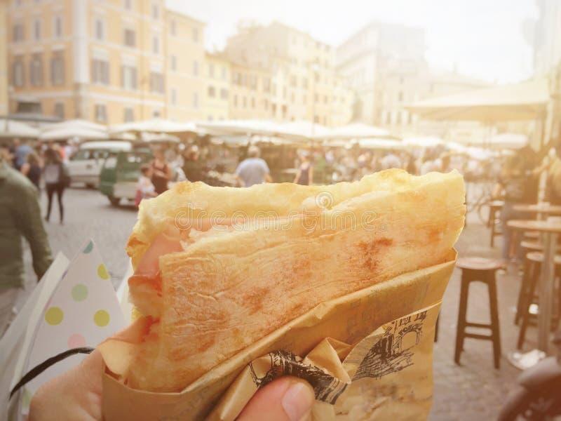 Straßenlebensmittel in Rom lizenzfreie stockfotografie