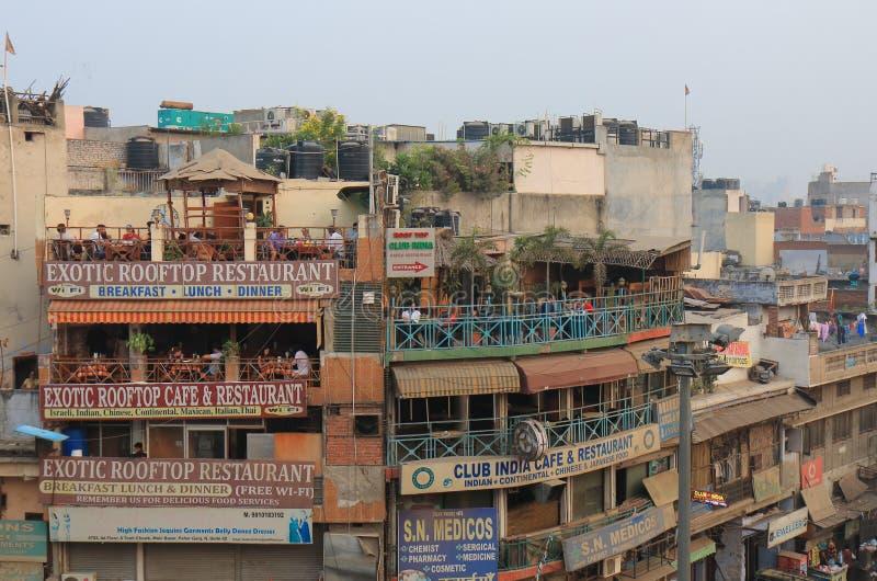 Straßenmarkt Stadtbild Neu-Delhi Indien lizenzfreie stockfotografie