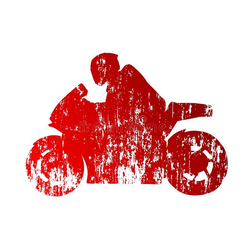 Straßenmotorradlaufen vektor abbildung