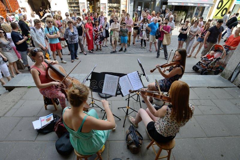 Straßenmusiktag, Vilnius lizenzfreies stockfoto