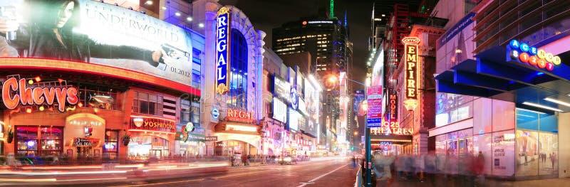 Straßenpanorama New- York Citymanhattan 42. lizenzfreies stockbild