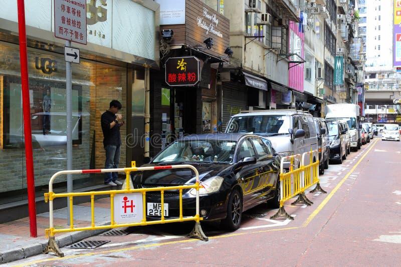 Straßenparkzonen lizenzfreie stockbilder
