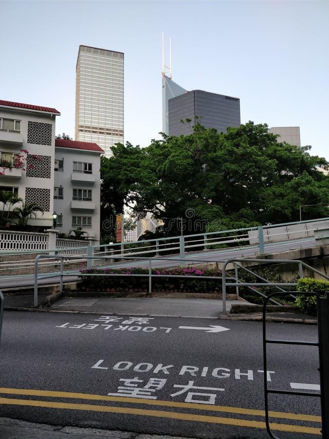 Straßenquerart von Hong Kong stockfotos