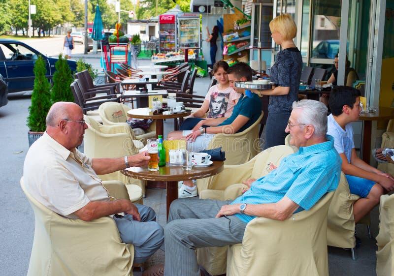 Straßenrestaurant lizenzfreies stockbild