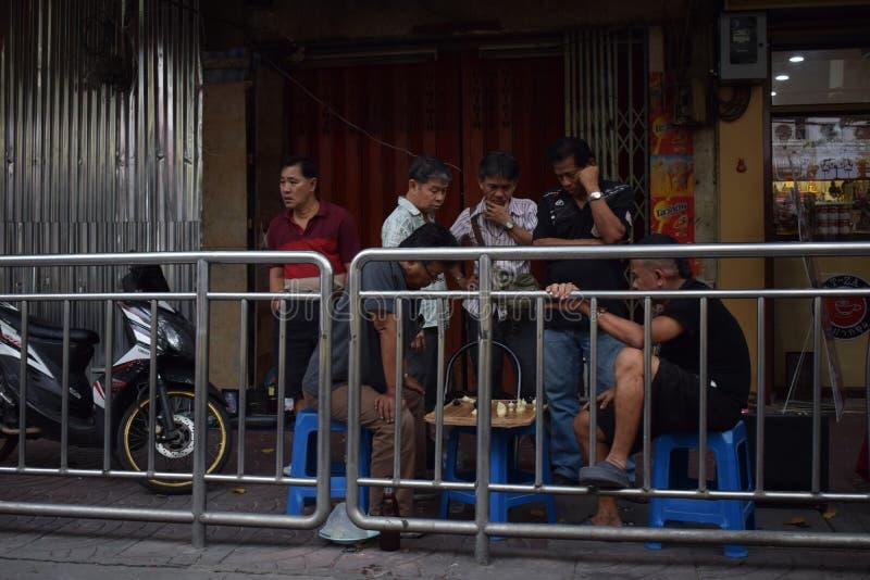 Straßenschach, Bangkok stockfoto