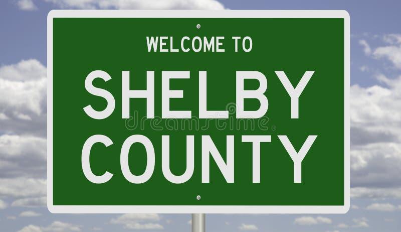 Straßenschild in der Grafschaft Shelby stockfotos