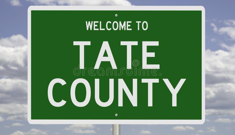 Straßenschild für Tate County lizenzfreie stockbilder