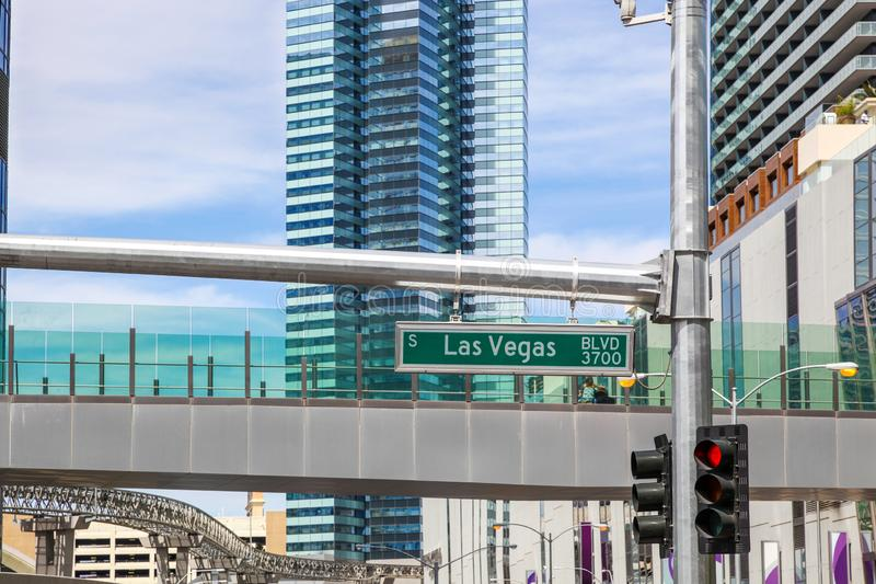 Straßenschild Las Vegas Blvd 3700 stockfotografie