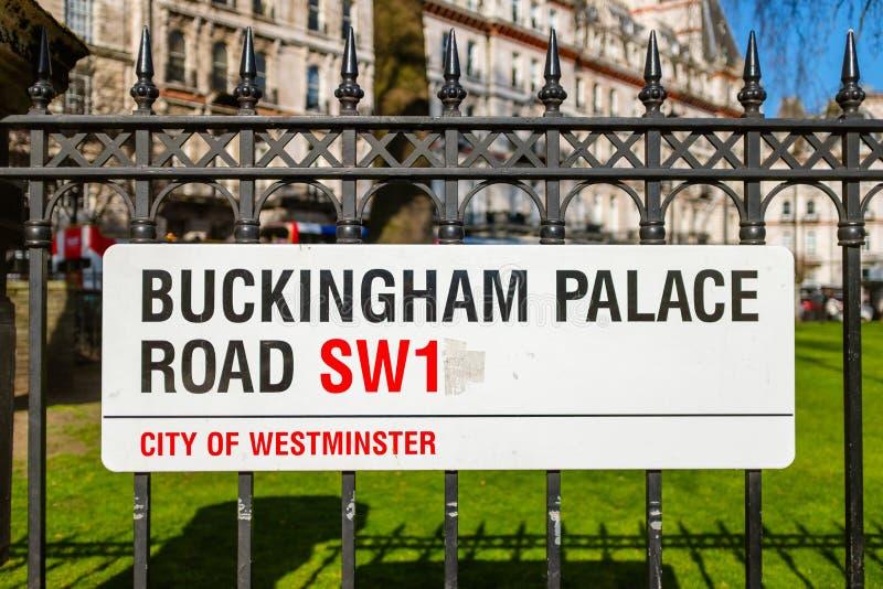 Straßenschild in zentralem London stockfoto