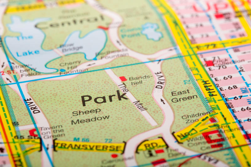 Straßenstadtplan stockfotos