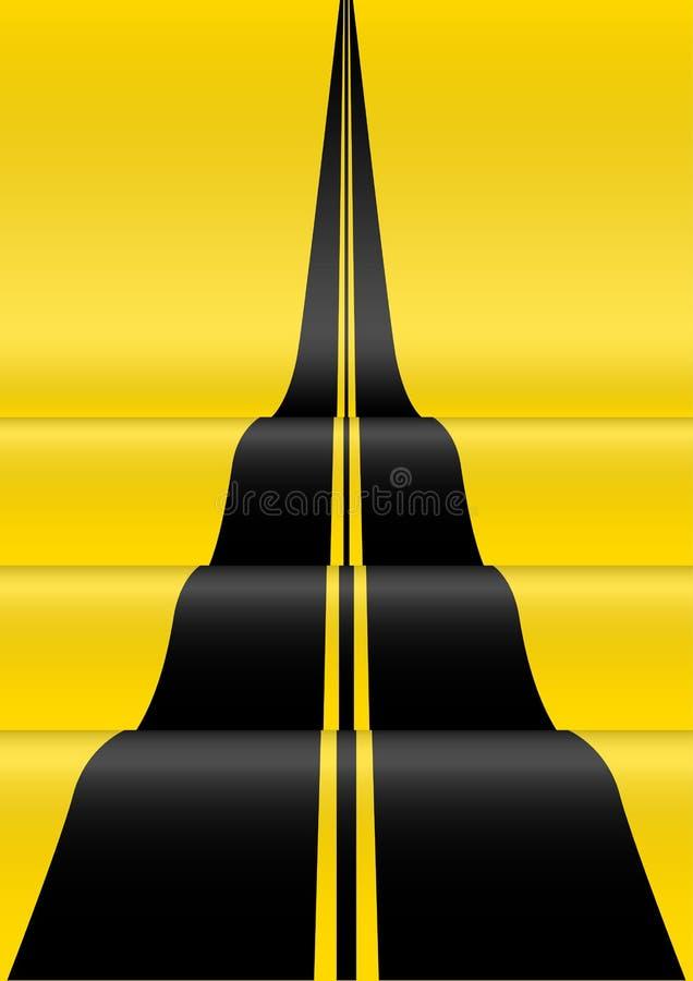 Straßensteigung zur Unendlichkeit vektor abbildung