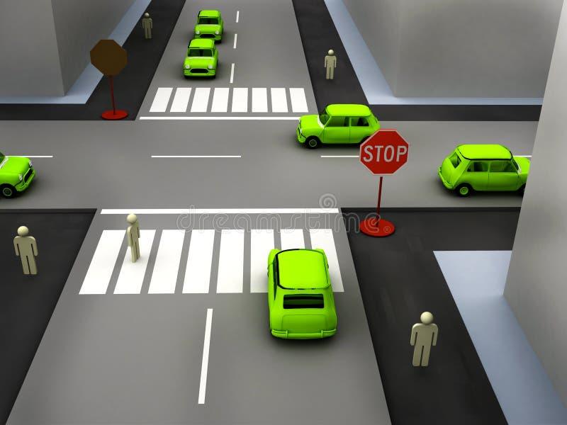 Straßenszene lizenzfreie abbildung