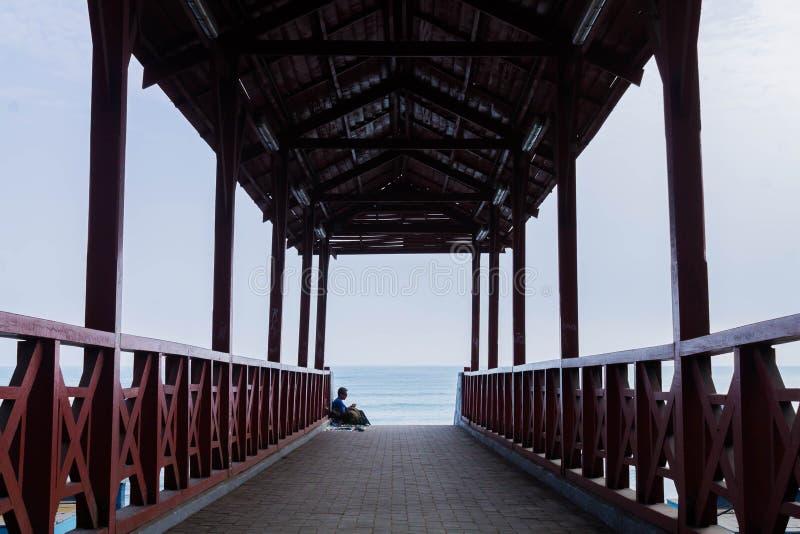 Straßentrieb in der Küste von Lima stockbild