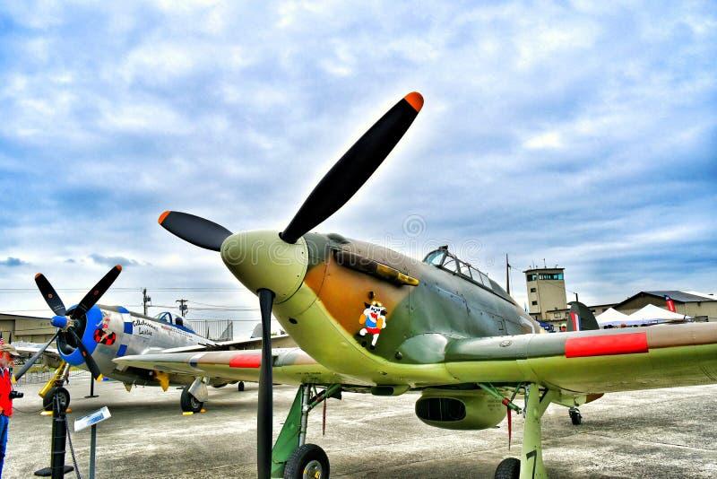 Straßenverkäufer-Sea Hurricane-Kampfflugzeug lizenzfreie stockfotografie