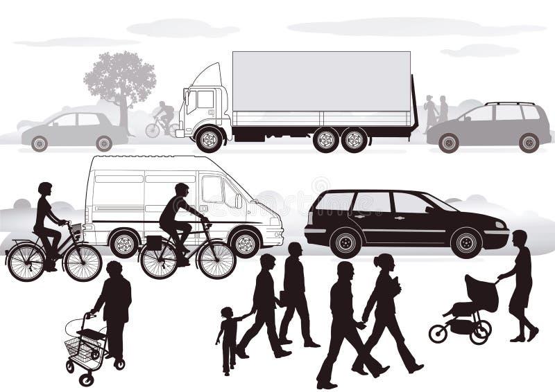 Straßenverkehr   lizenzfreie abbildung