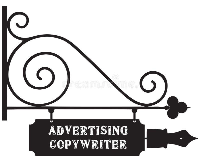Straßenzeiger Werbungs-Werbetexter vektor abbildung