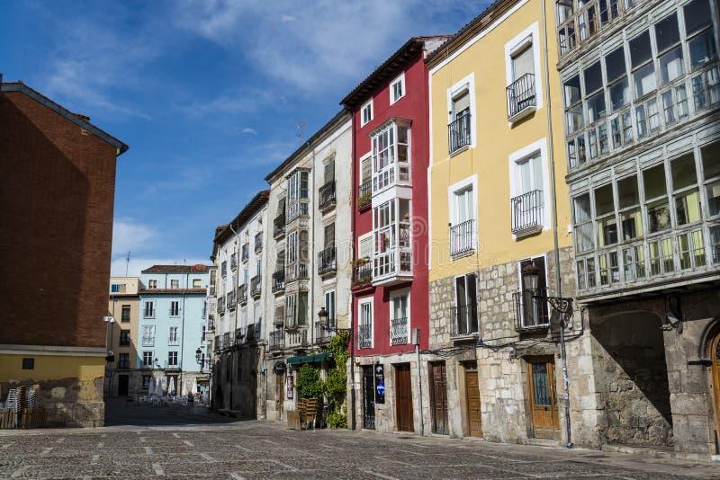 Straße, Burgos, Olivenölseife und Leon, Spanien lizenzfreies stockfoto