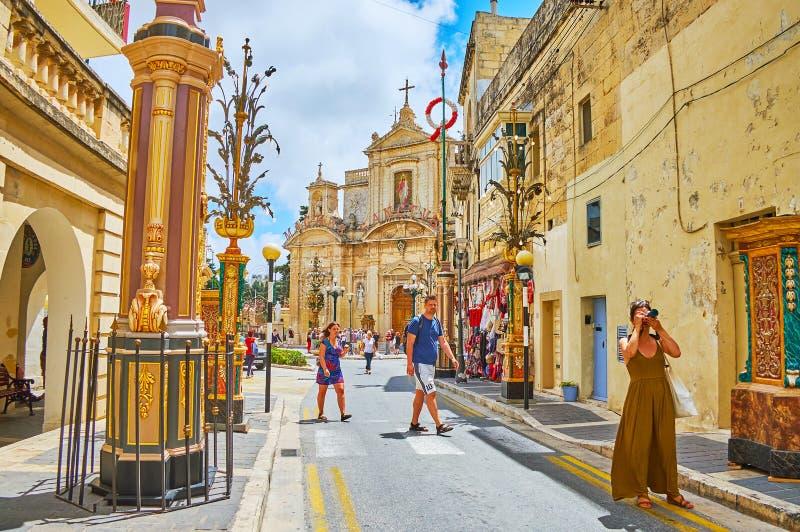 In Straße St. Agatha Rabat, Malta lizenzfreies stockbild