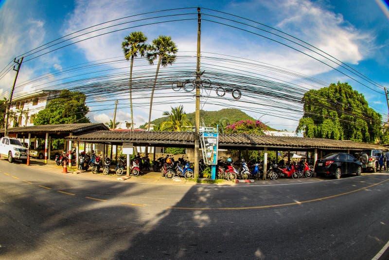 Straße in Thailand lizenzfreie stockfotos