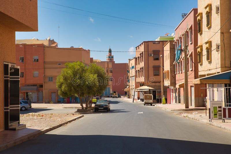 Straßen der marokkanischen Stadt Tiznit, Marokko 2017 stockfotos