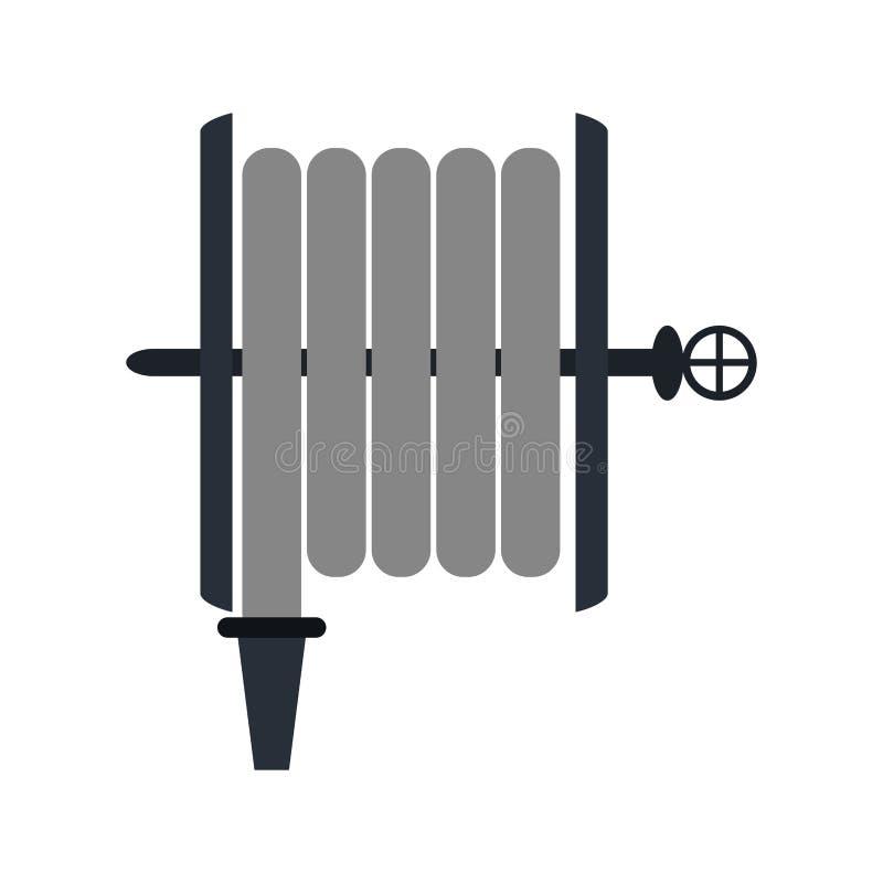 Strażaka węża elastycznego wyposażenie ilustracja wektor