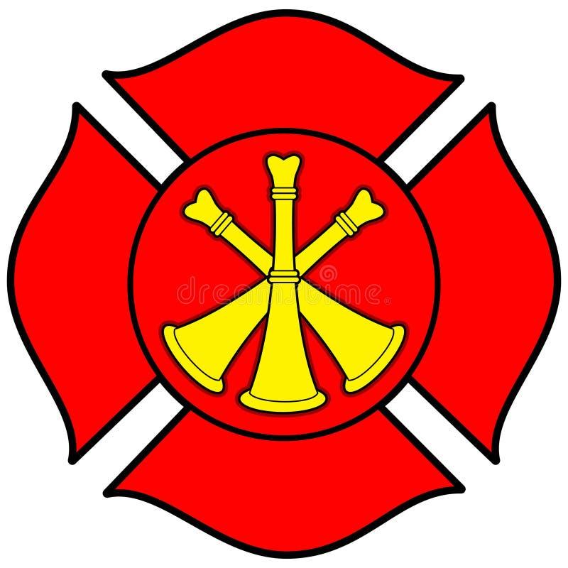 Strażak gądzieli odznaka royalty ilustracja