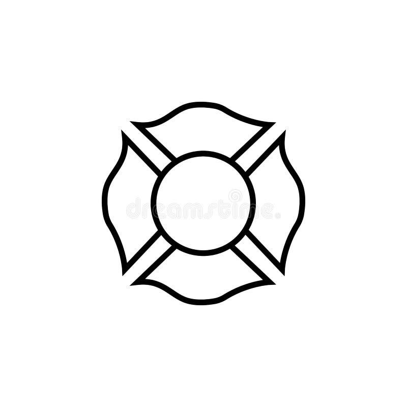 strażaka emblemata ikona ilustracji