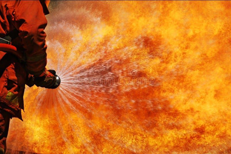 strażaka szkolenie obrazy royalty free