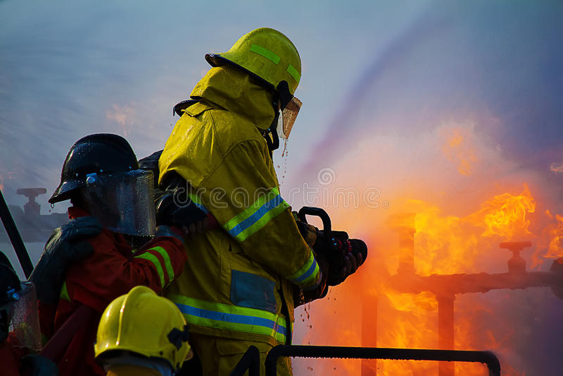 Strażaka szkolenie obraz stock