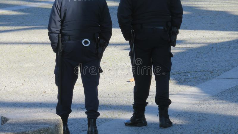 Straże obywatelskie na ulicach zdjęcie stock