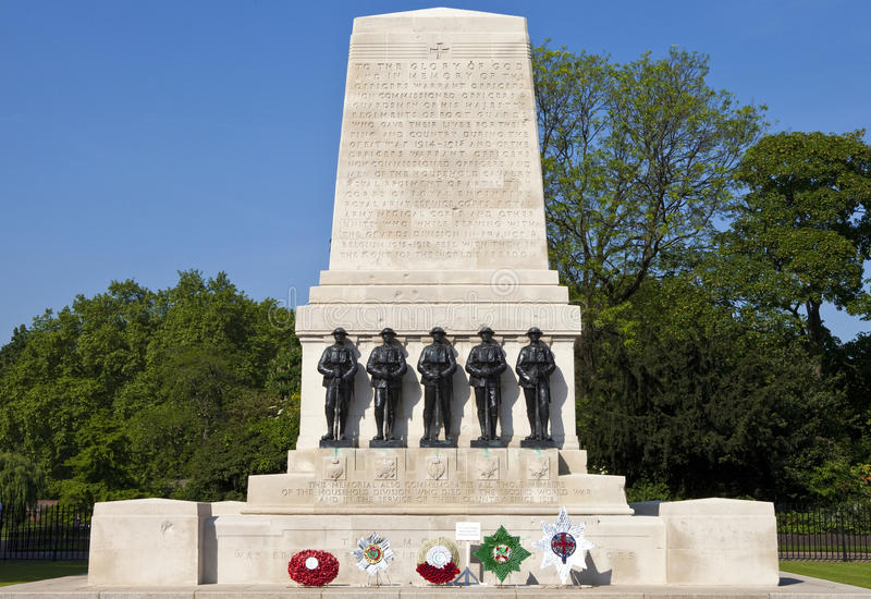 Strażnicy Pamiątkowi w Londyn zdjęcia royalty free