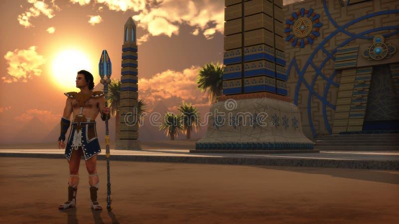 Strażnik, 3d CG royalty ilustracja