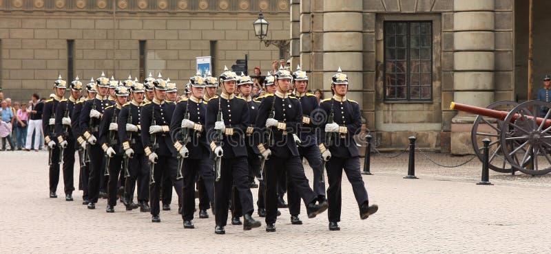 strażnik królewski Stockholm zmian zdjęcia royalty free