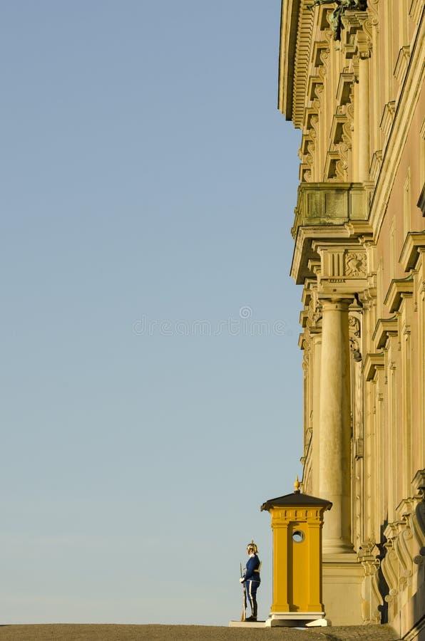 Strażnik przy Royal Palace Sztokholm fotografia stock