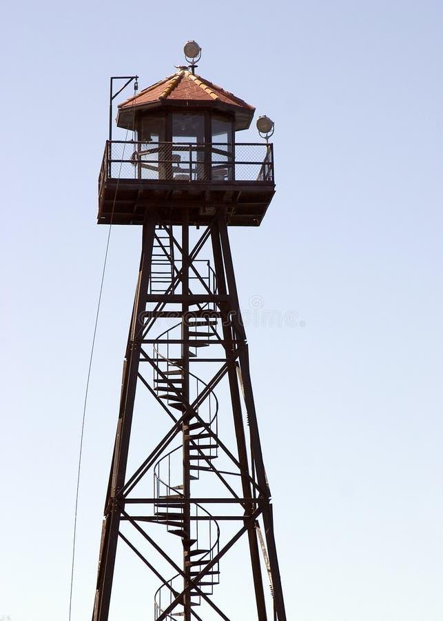 strażnik wieży więzienia. obraz royalty free