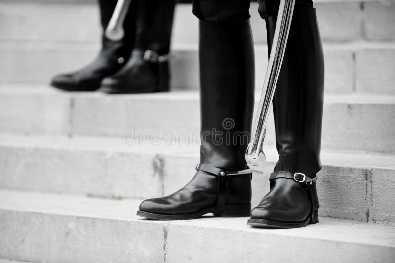Strażnik zaszczytów buty zdjęcie stock