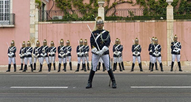 strażowy Lisbon Portugal prezydencki obrazy stock
