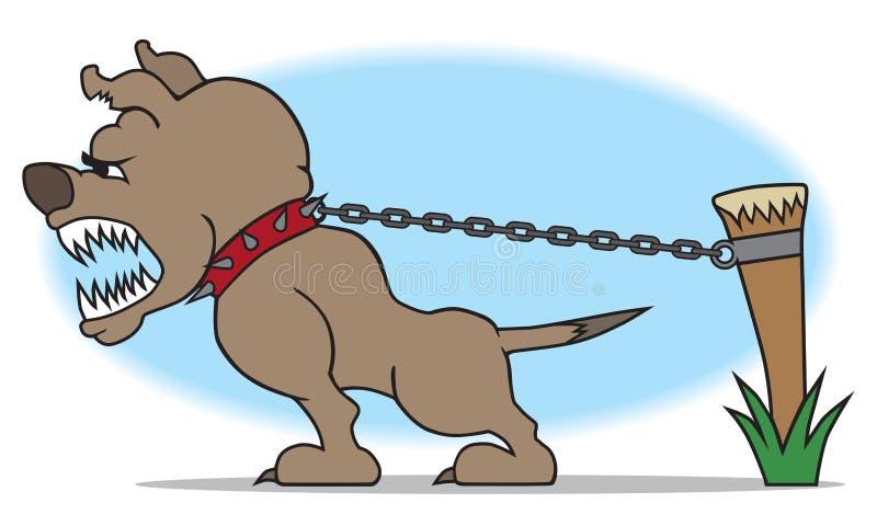 Strażowy pies ilustracja wektor