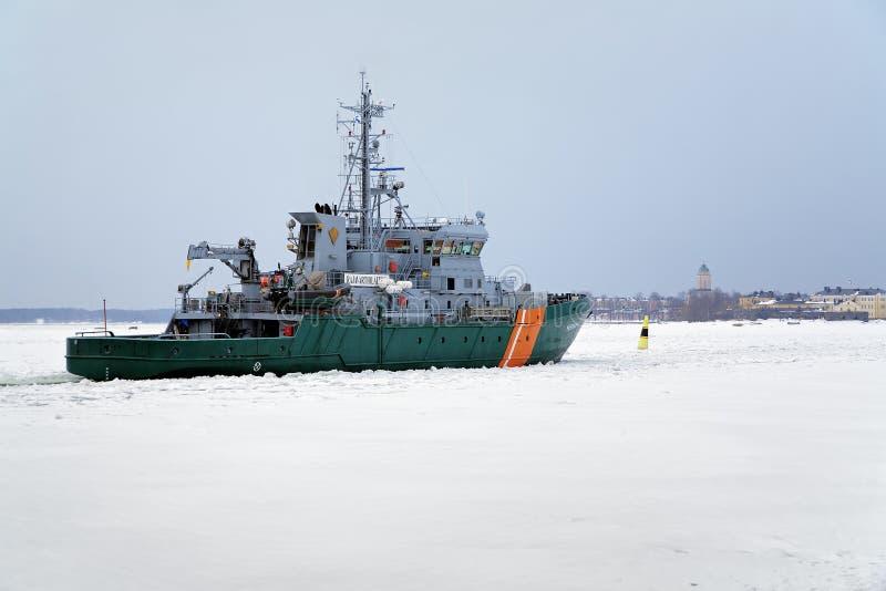 straży granicznej Helsinki statek obraz stock