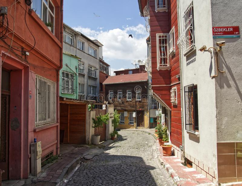 Stra?e von Istanbul lizenzfreies stockbild