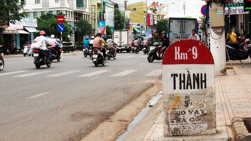 Stra?en von Nha Trang, Vietnam Betrachten Sie die Stra?en von Nha Trang, Vietnam stockfoto