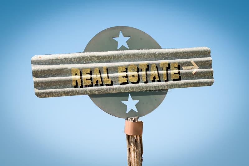 Stra?enschild zu Real Estate lizenzfreies stockfoto