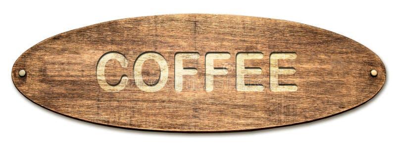 Stra?enschild zum Kaffee stock abbildung
