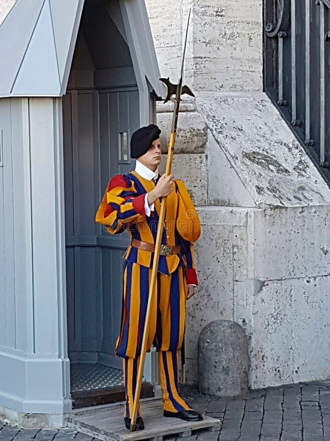 stra?owy papieski szwajcar zdjęcie stock