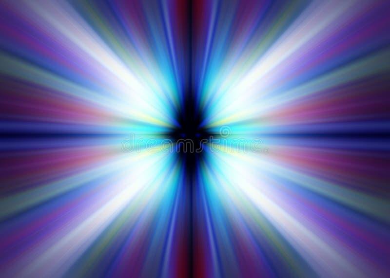 Straal van kleur stock illustratie
