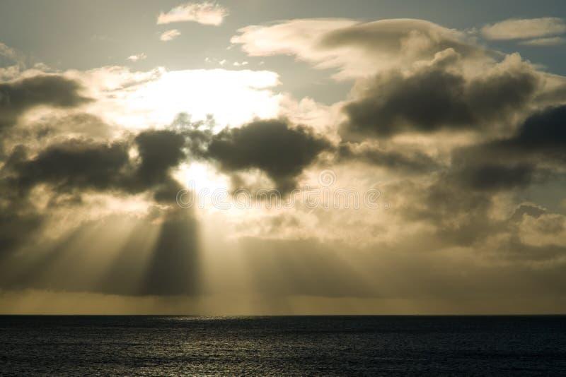 Ray van licht stock afbeelding