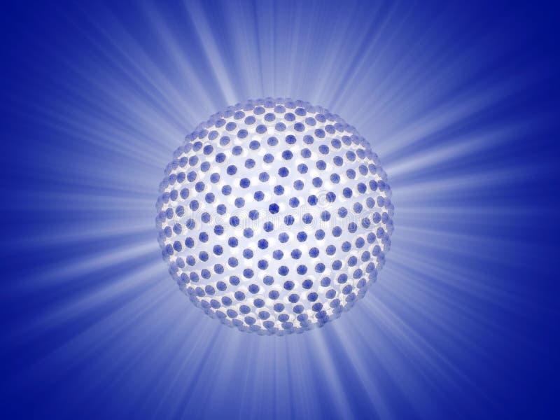 Straal van lichtengebied stock illustratie