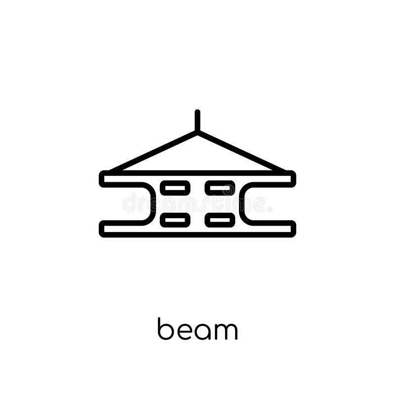 Straalpictogram In modern vlak lineair vectorstraalpictogram op witte B vector illustratie