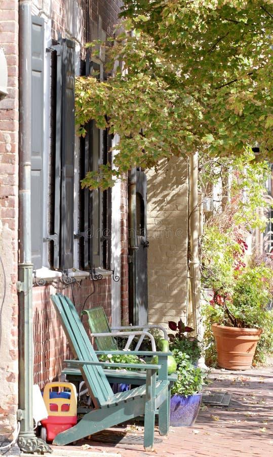 Straat in Alexandrië, Virginia stock afbeeldingen